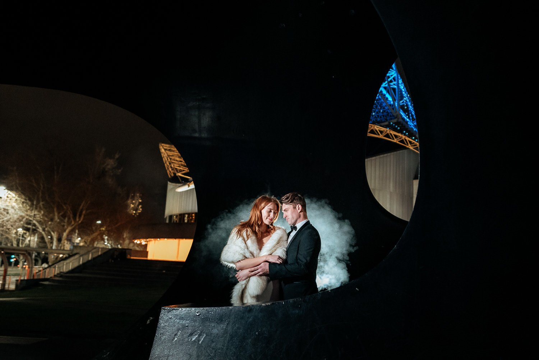 melbourne night wedding photography