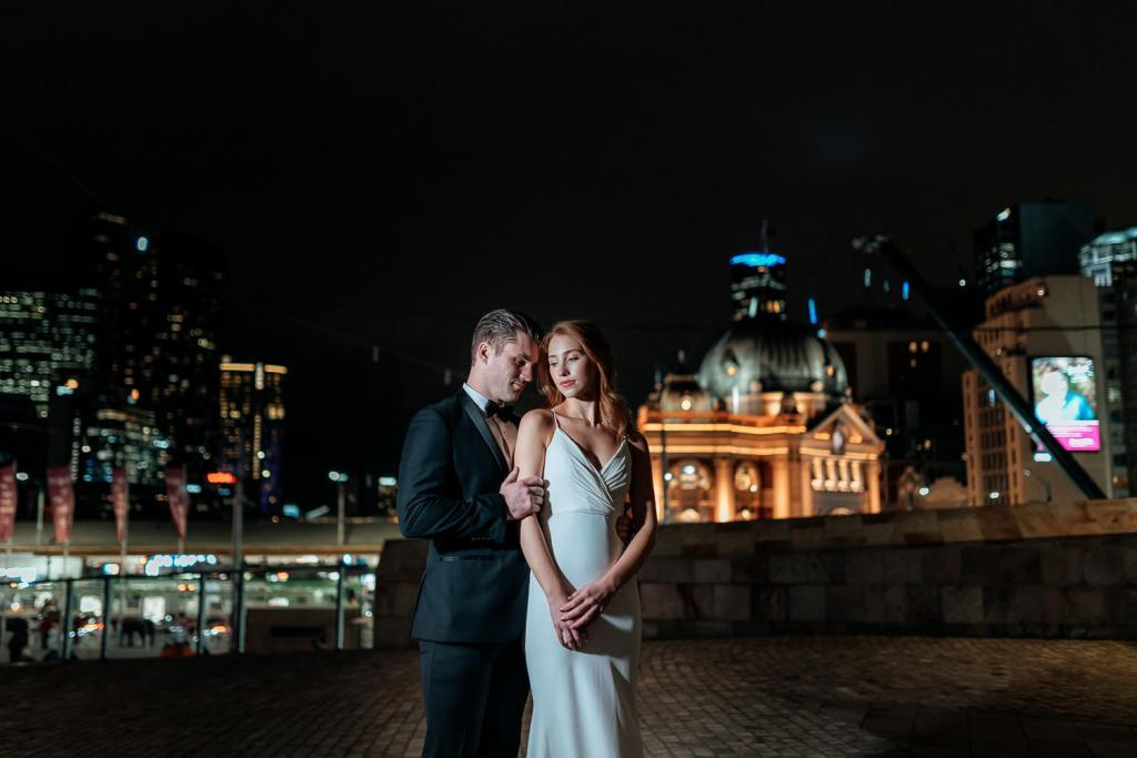 melbourne night wedding photography